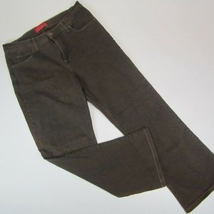 NYDJ Bootcut Brown Dark Denim Pants Womens
